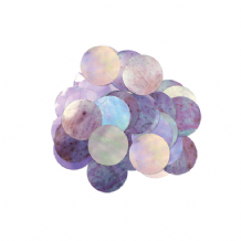 Metallic Iridescent Foil Confetti | 10mm Metallic Round | 50g Bag